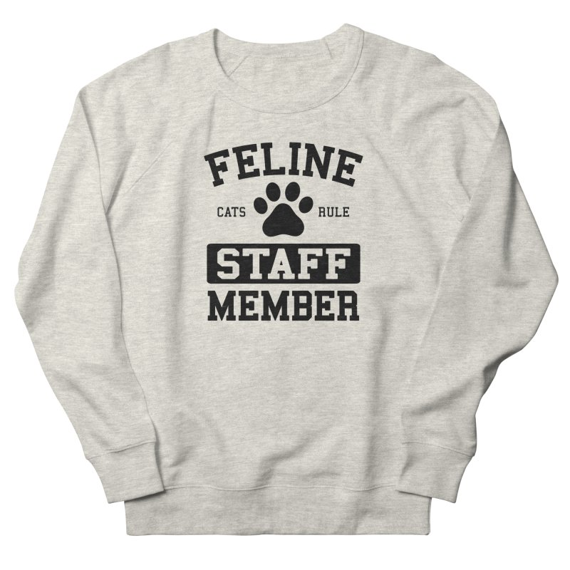 Feline Staff Member Men's Sweatshirt by Purrform