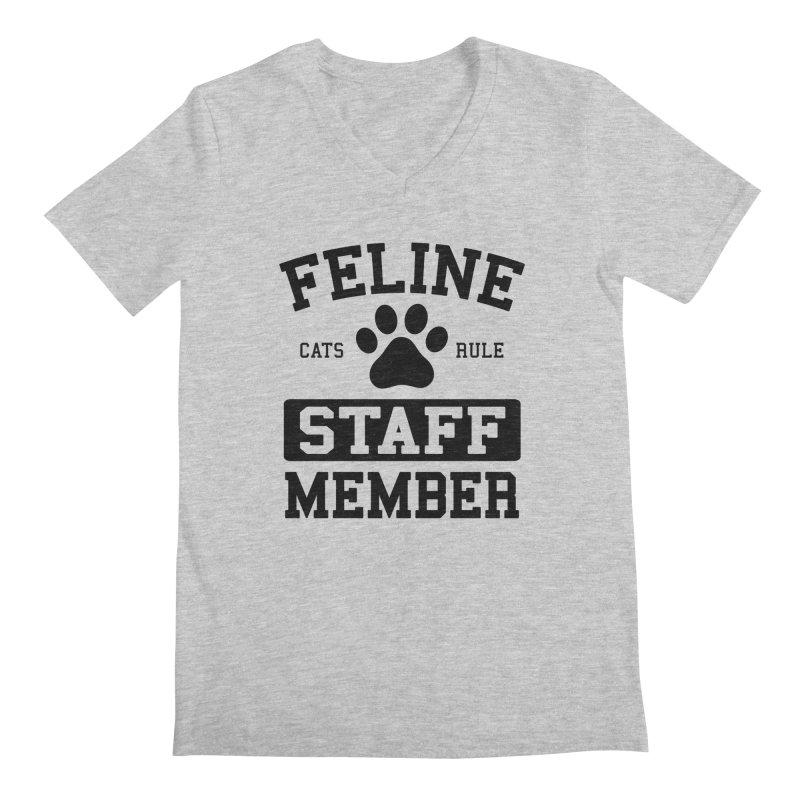 Feline Staff Member Men's V-Neck by Purrform