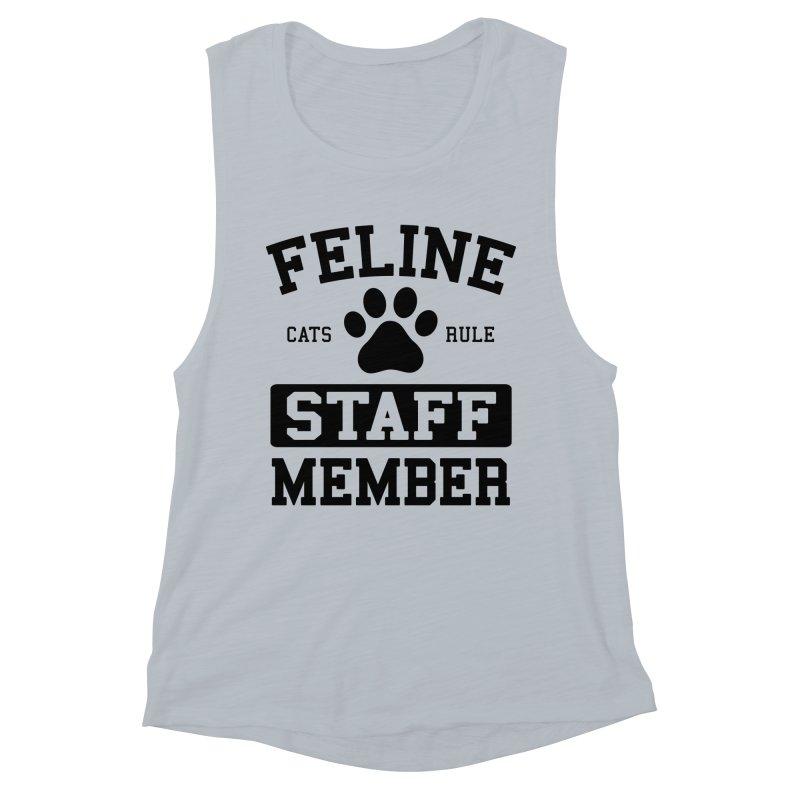 Feline Staff Member Women's Muscle Tank by Purrform