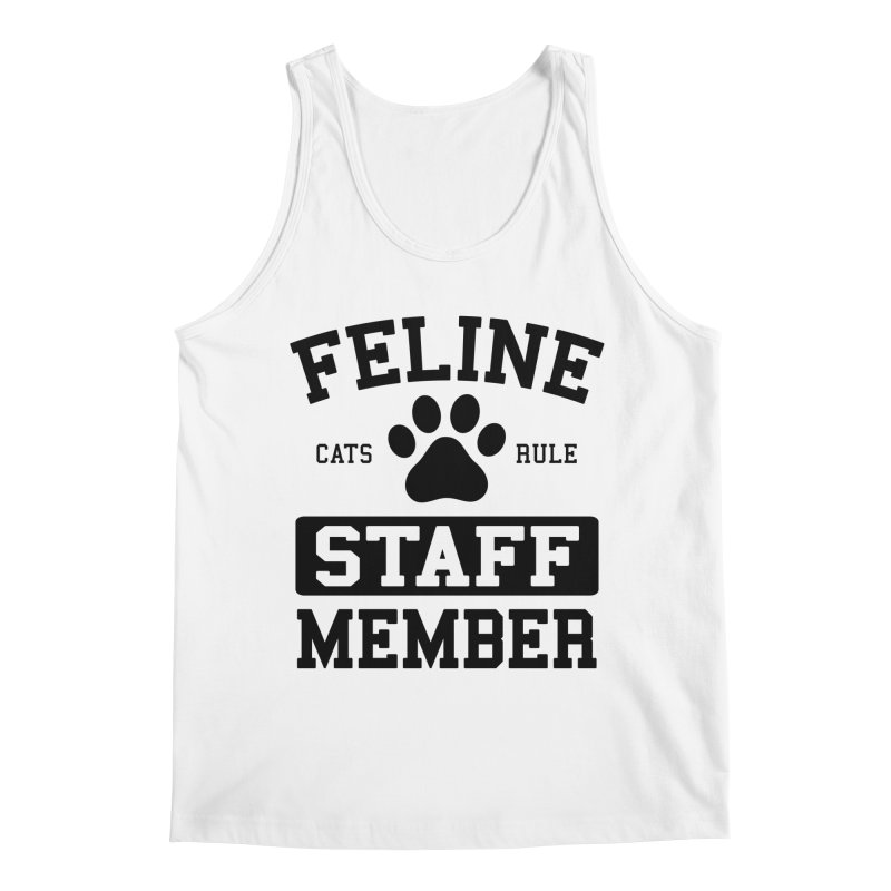 Feline Staff Member Men's Regular Tank by Purrform