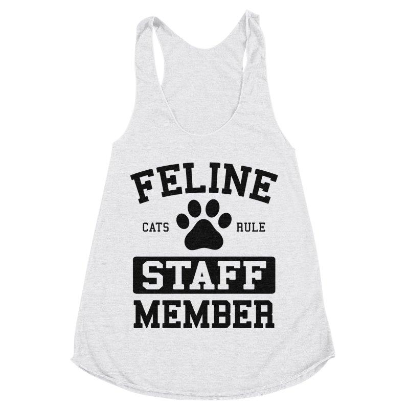 Feline Staff Member Women's Racerback Triblend Tank by Purrform
