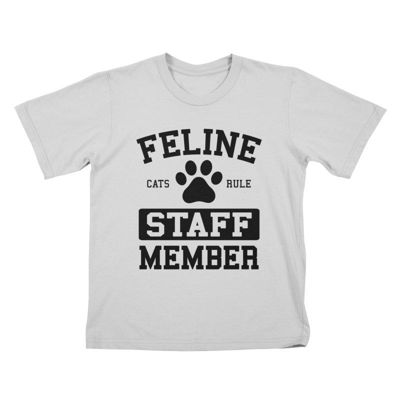 Feline Staff Member Kids T-Shirt by Purrform