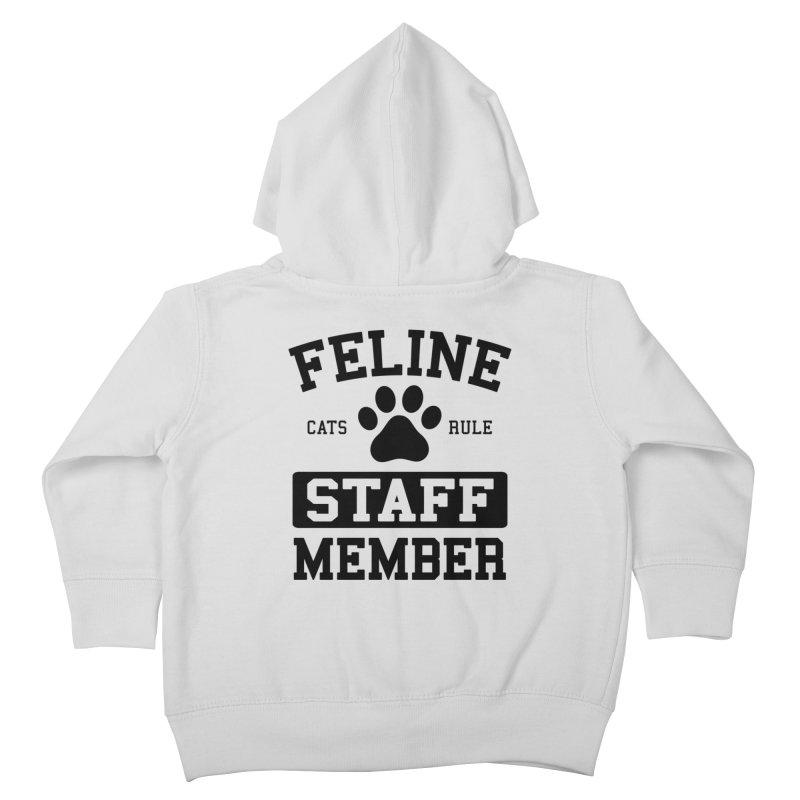 Feline Staff Member Kids Toddler Zip-Up Hoody by Purrform
