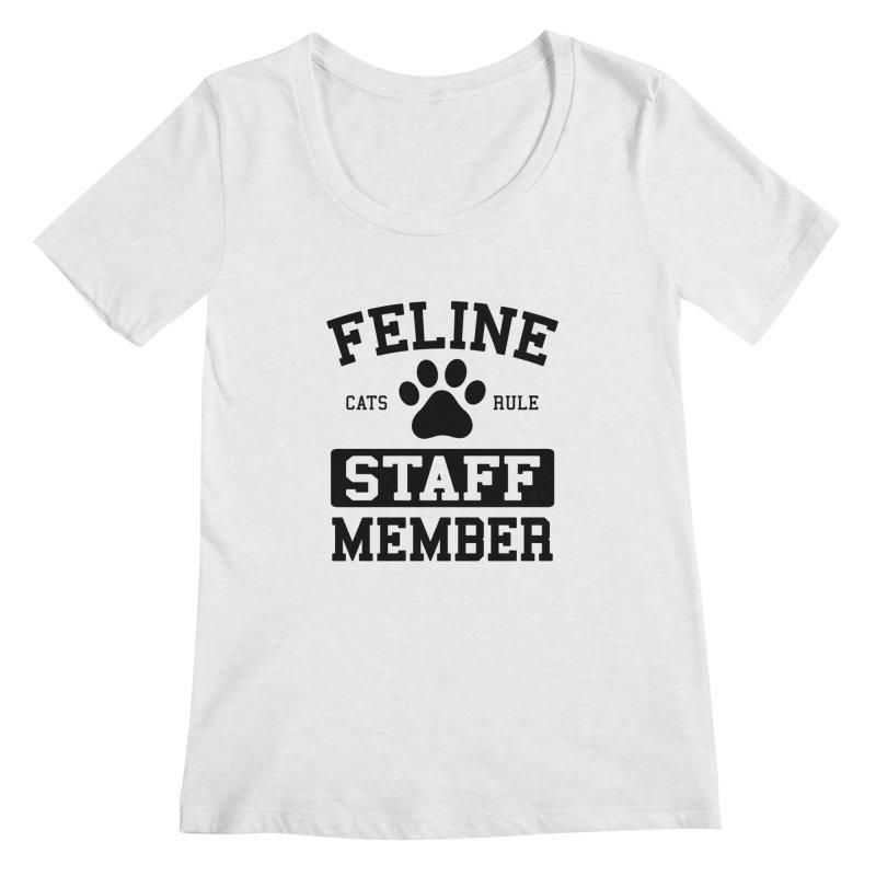 Feline Staff Member Women's Regular Scoop Neck by Purrform