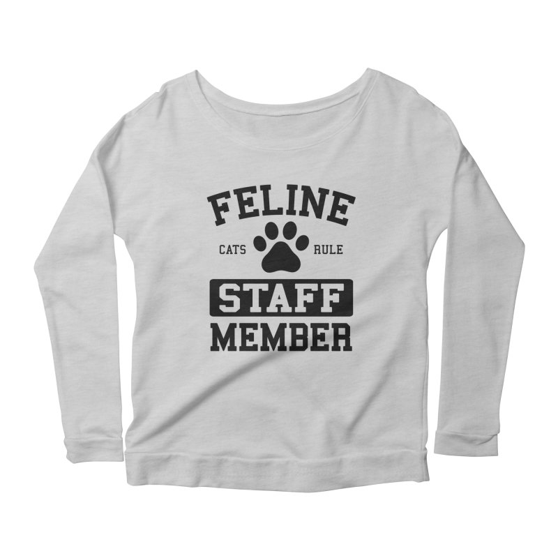 Feline Staff Member Women's Scoop Neck Longsleeve T-Shirt by Purrform