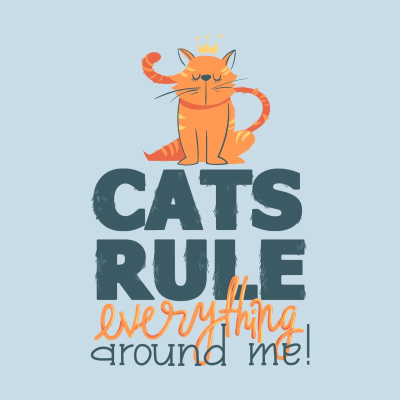 Cats Rule Everything Around Me Women's V-Neck by Purrform