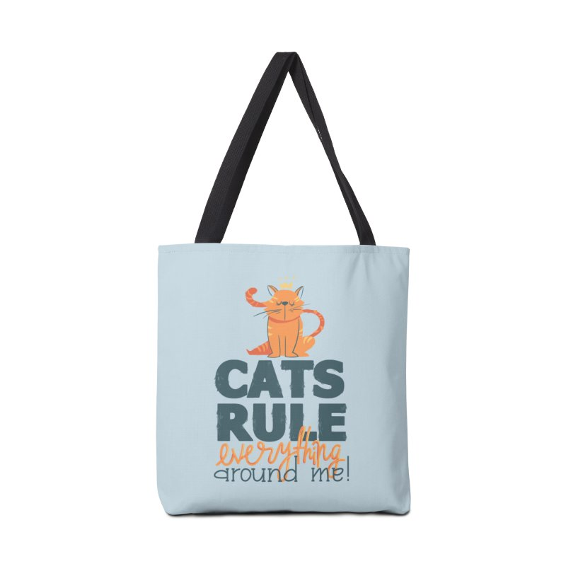 Cats Rule Everything Around Me Accessories Tote Bag Bag by Purrform