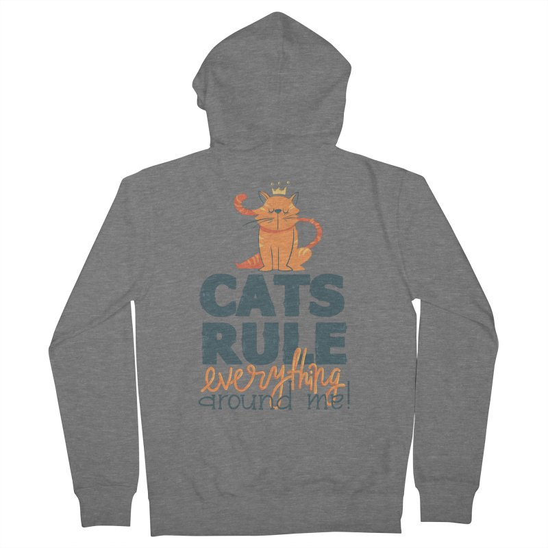 Cats Rule Everything Around Me Men's Zip-Up Hoody by Purrform