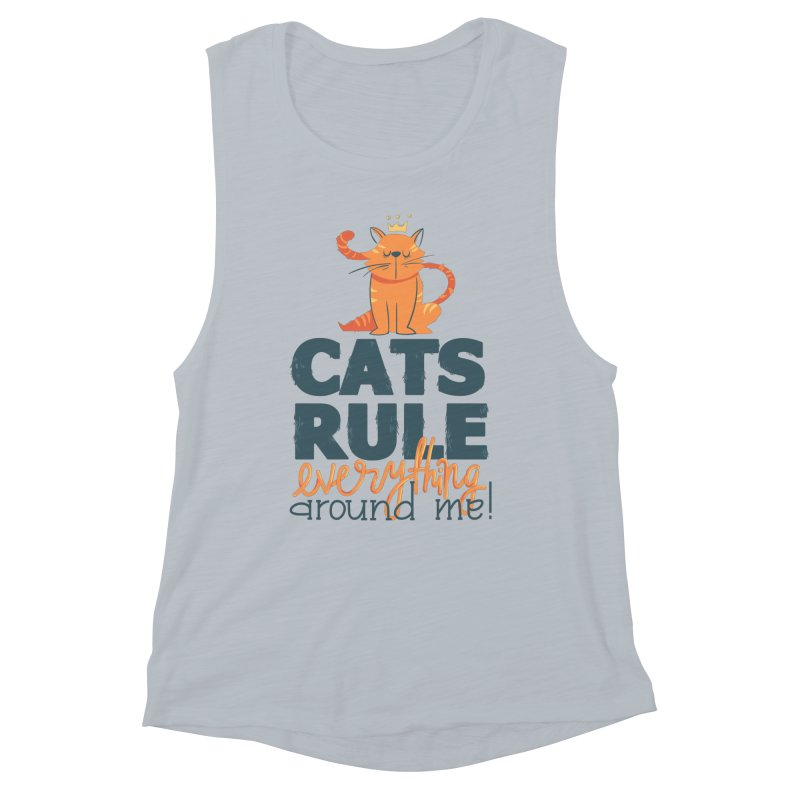 Cats Rule Everything Around Me Women's Muscle Tank by Purrform