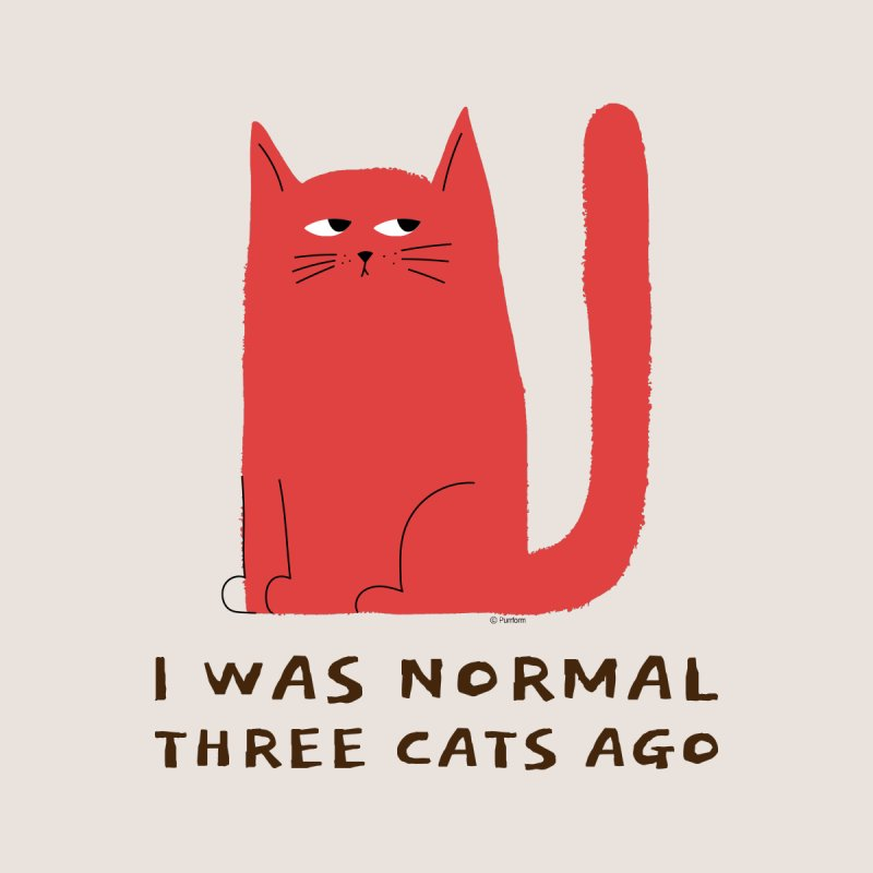 I Was Normal Three Cats Ago Accessories Magnet by Purrform