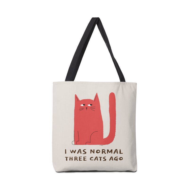 I Was Normal Three Cats Ago Accessories Tote Bag Bag by Purrform