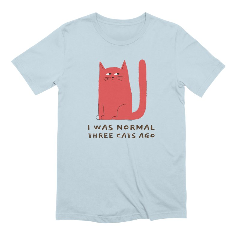 I Was Normal Three Cats Ago Men's Extra Soft T-Shirt by Purrform