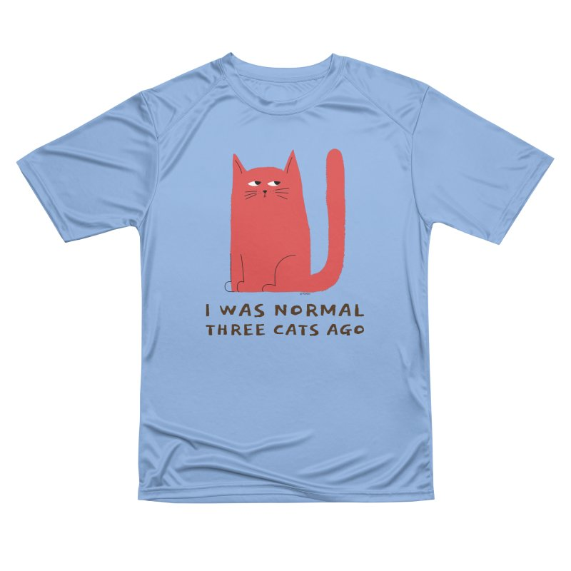 I Was Normal Three Cats Ago Men's Performance T-Shirt by Purrform