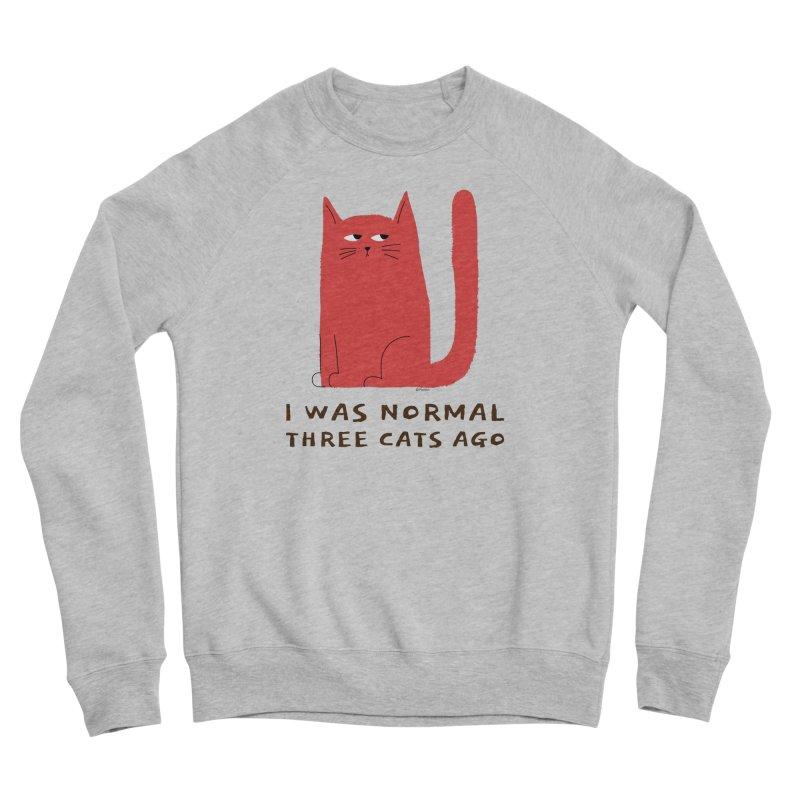 I Was Normal Three Cats Ago Women's Sponge Fleece Sweatshirt by Purrform