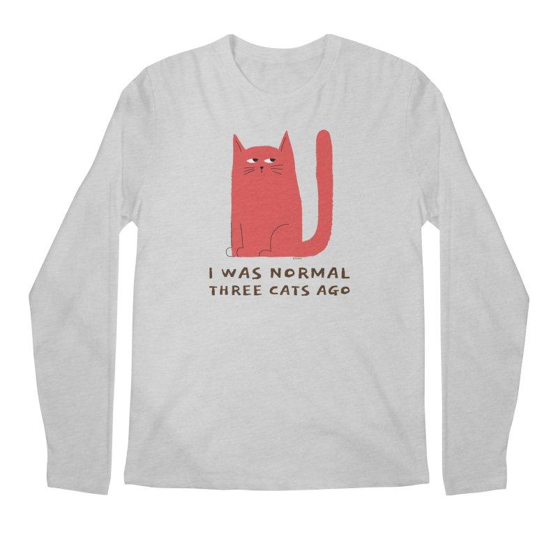 I Was Normal Three Cats Ago Men's Regular Longsleeve T-Shirt by Purrform