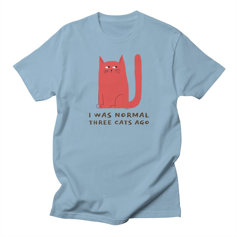 I Was Normal Three Cats Ago Women's Regular Unisex T-Shirt by Purrform