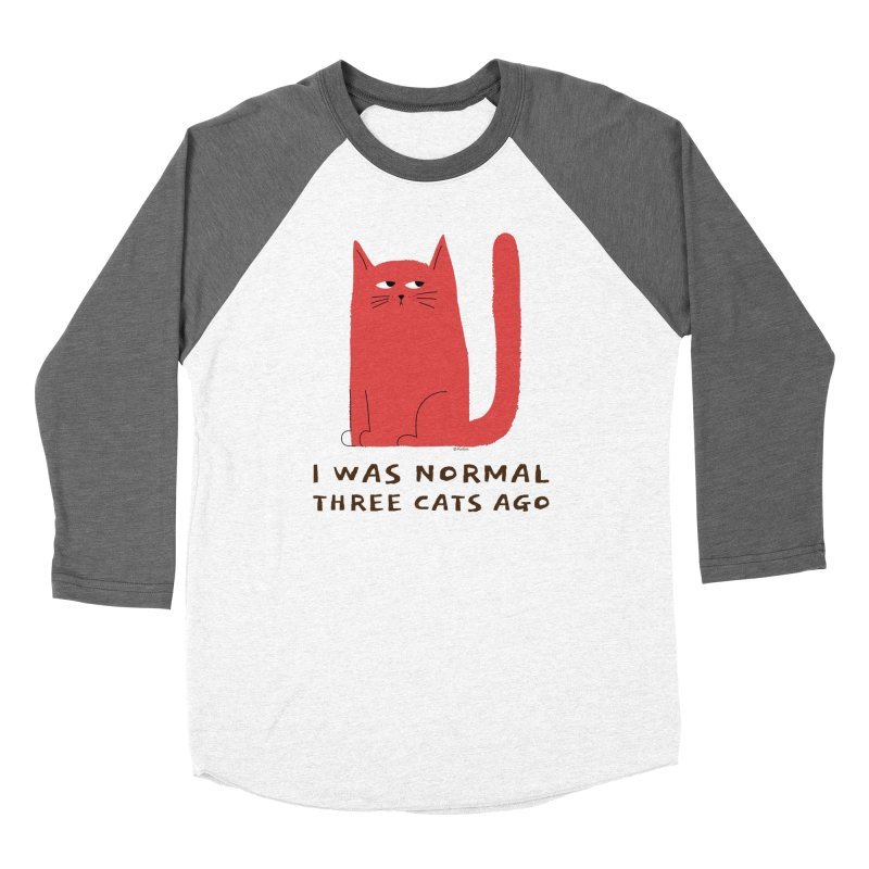 I Was Normal Three Cats Ago Women's Longsleeve T-Shirt by Purrform