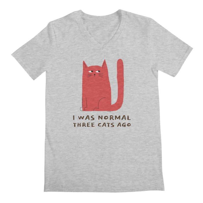 I Was Normal Three Cats Ago Men's Regular V-Neck by Purrform