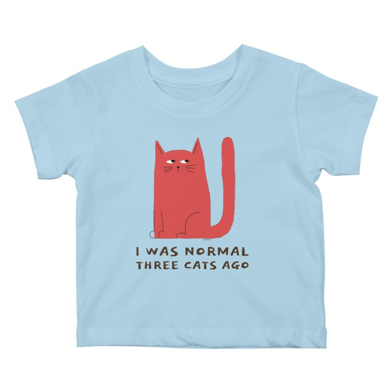 I Was Normal Three Cats Ago Kids Baby T-Shirt by Purrform