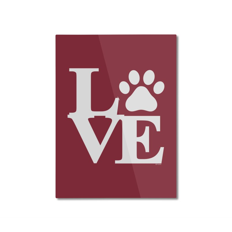 Paw Love Home Decor Mounted Aluminum Print by Purrform