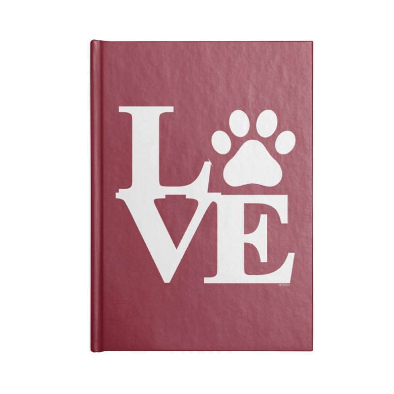 Paw Love Accessories Lined Journal Notebook by Purrform