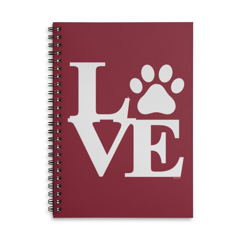 Paw Love Accessories Lined Spiral Notebook by Purrform