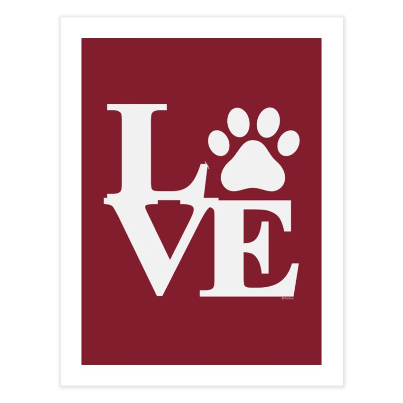 Paw Love Home Fine Art Print by Purrform