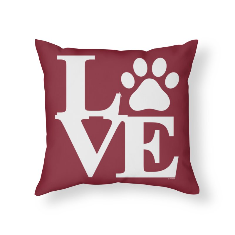 Paw Love Home Decor Throw Pillow by Purrform