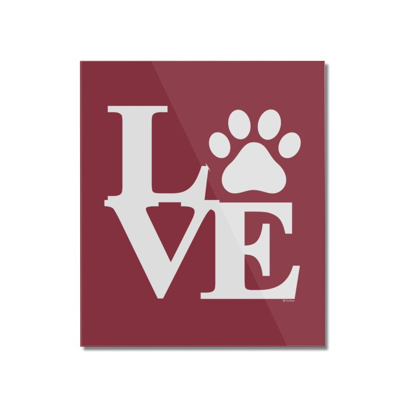 Paw Love Home Decor Mounted Acrylic Print by Purrform