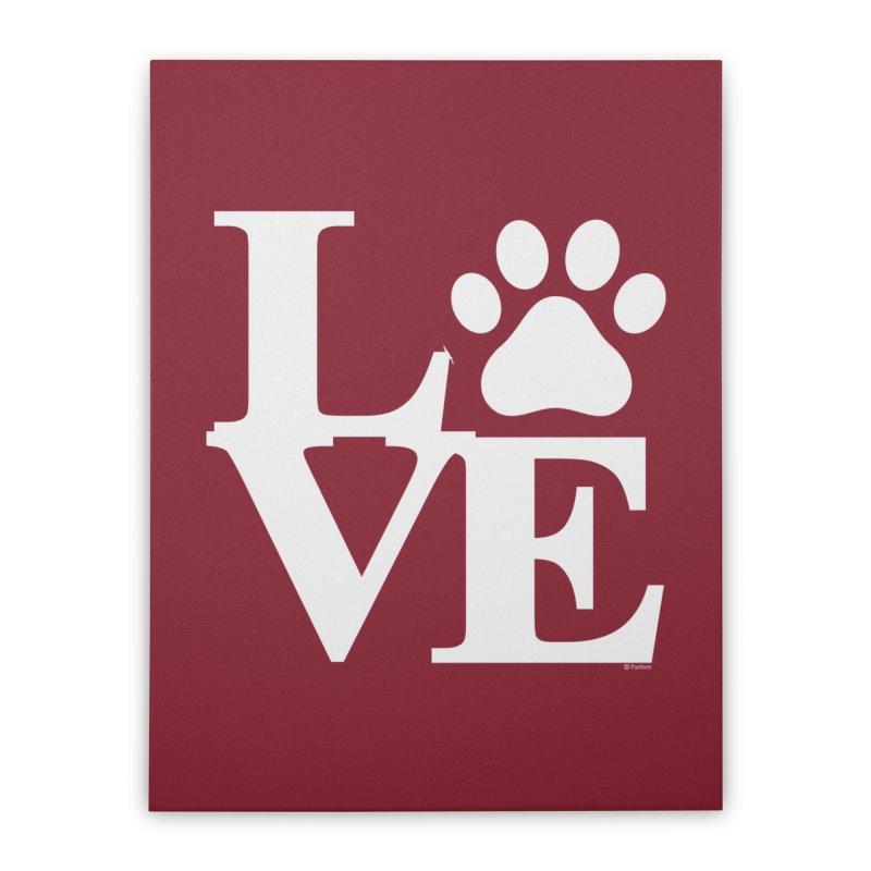 Paw Love Home Decor Stretched Canvas by Purrform