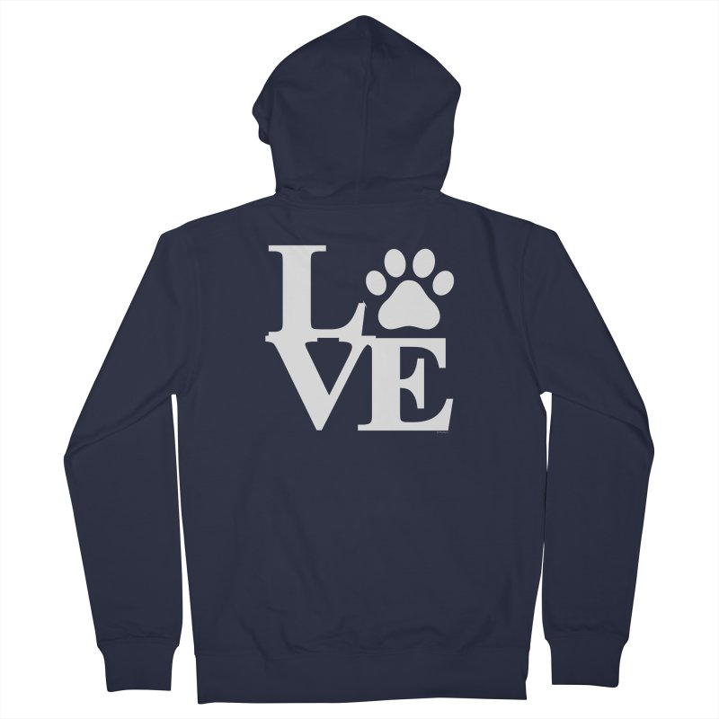 Paw Love Men's French Terry Zip-Up Hoody by Purrform