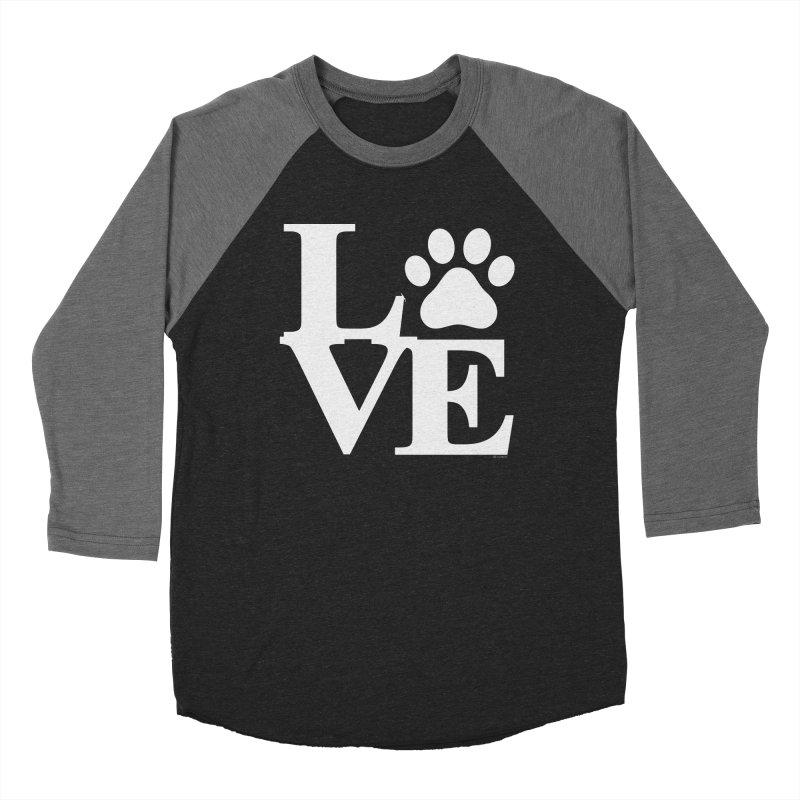 Paw Love Women's Baseball Triblend Longsleeve T-Shirt by Purrform