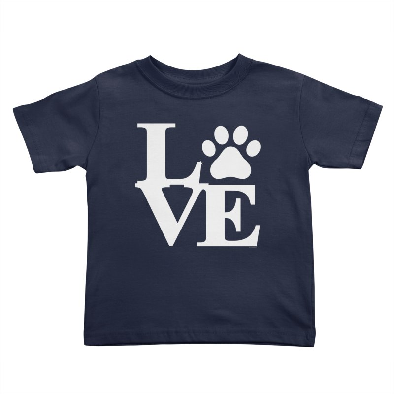 Paw Love Kids Toddler T-Shirt by Purrform