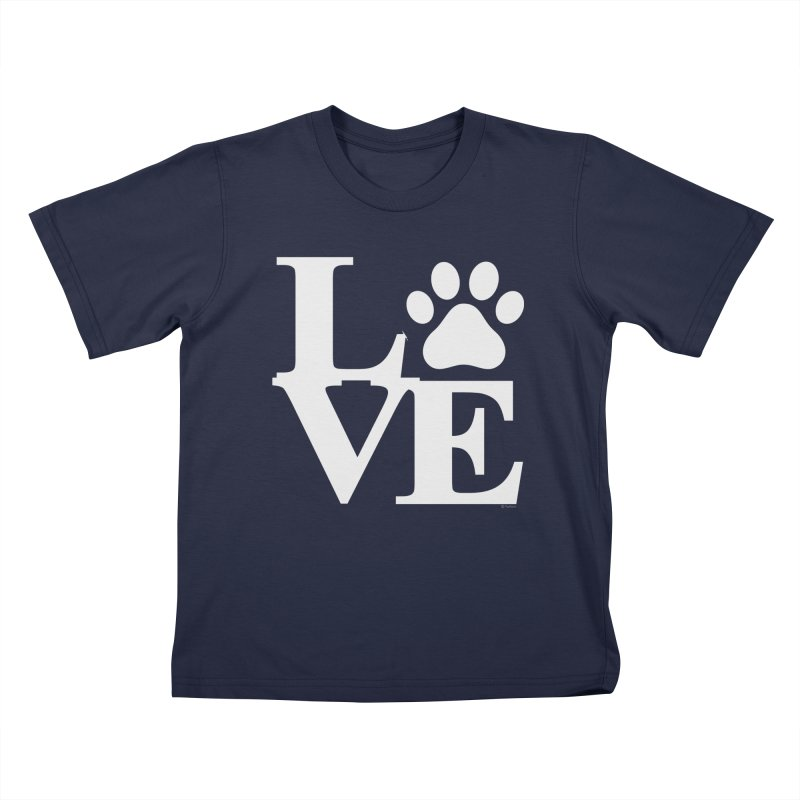 Paw Love Kids T-Shirt by Purrform
