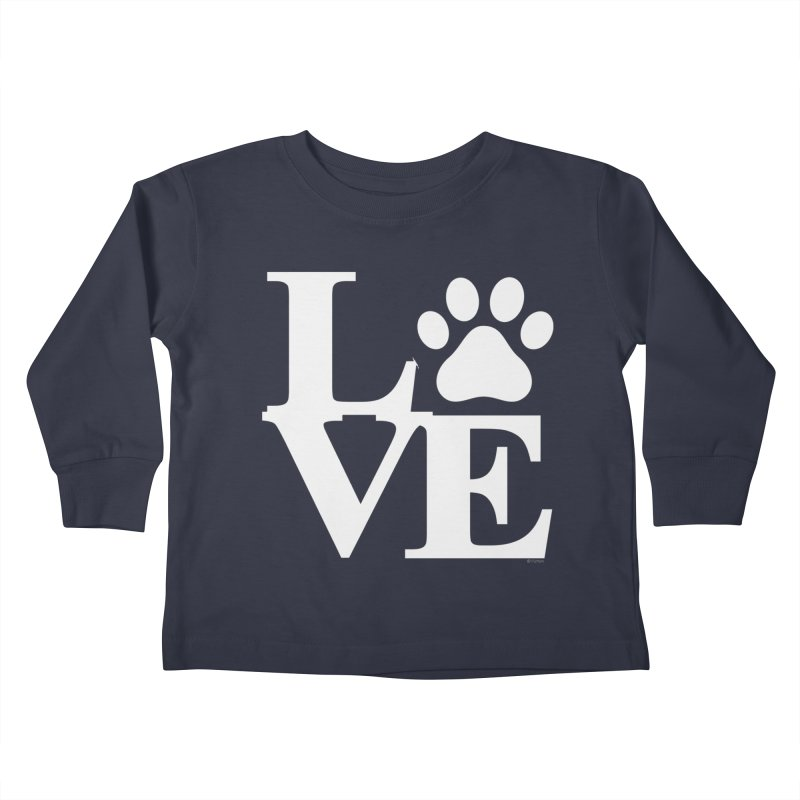 Paw Love Kids Toddler Longsleeve T-Shirt by Purrform