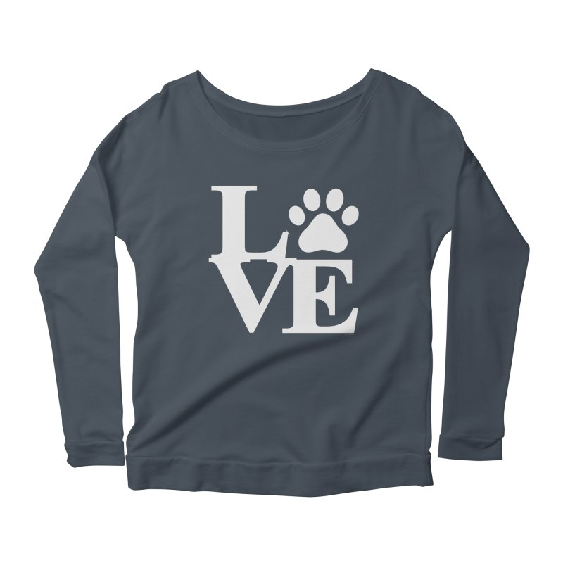 Paw Love Women's Scoop Neck Longsleeve T-Shirt by Purrform