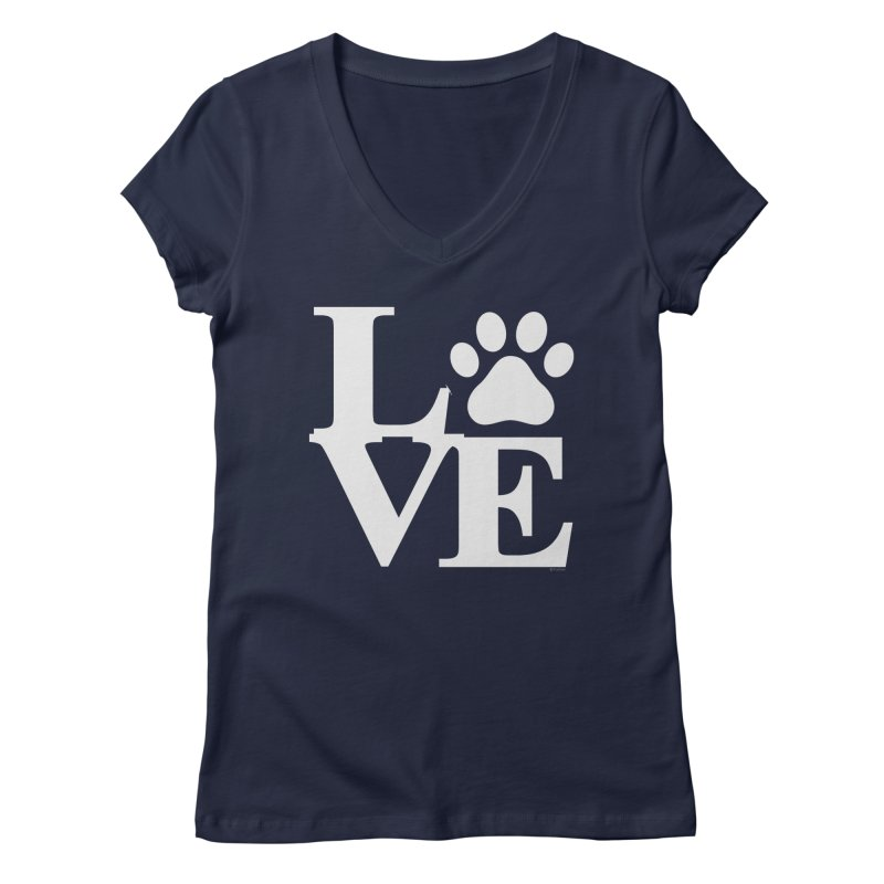 Paw Love Women's Regular V-Neck by Purrform