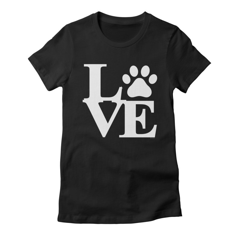 Paw Love Women's Fitted T-Shirt by Purrform