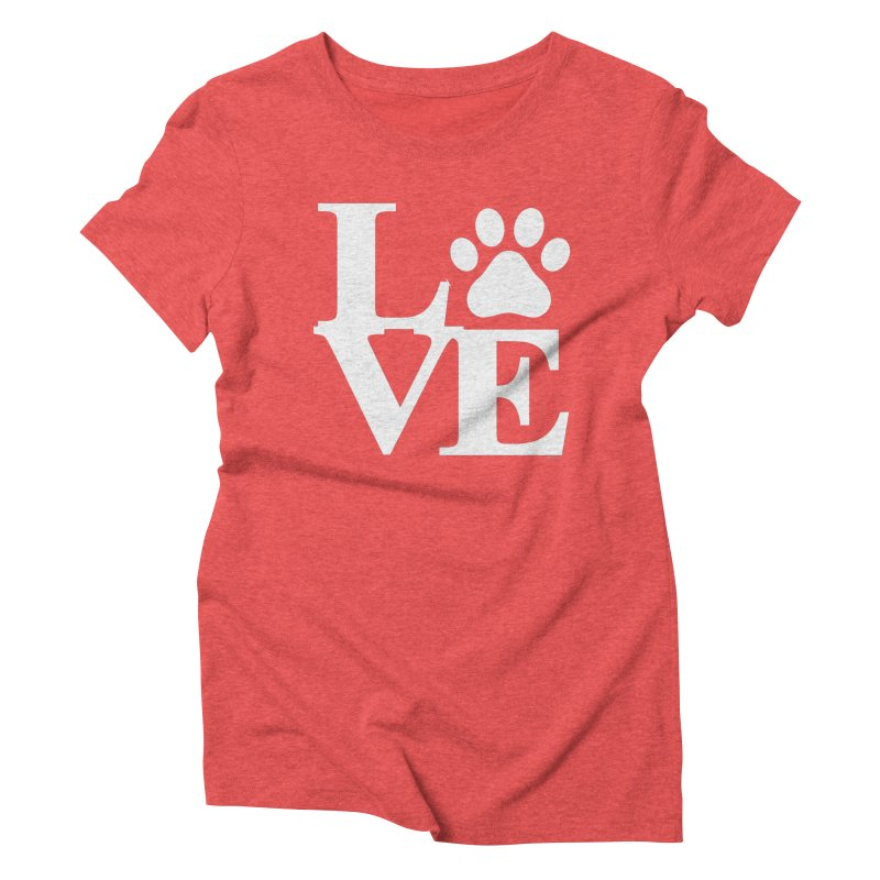 Paw Love Women's Triblend T-Shirt by Purrform