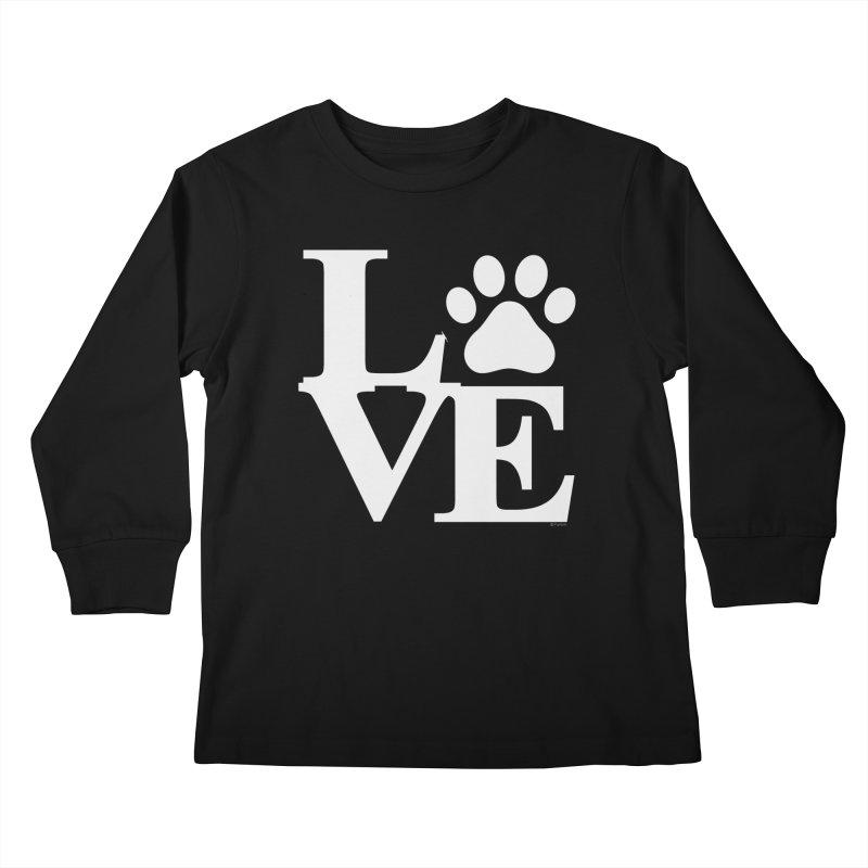 Paw Love Kids Longsleeve T-Shirt by Purrform