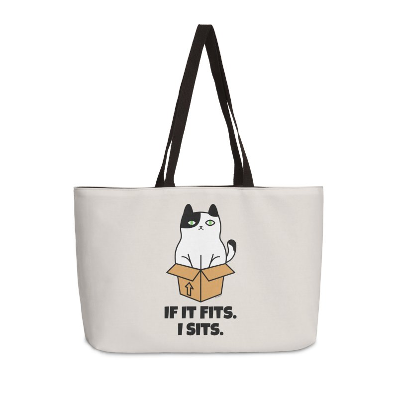 If It Fits I Sits Accessories Weekender Bag Bag by Purrform