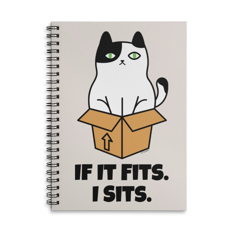If It Fits I Sits Accessories Lined Spiral Notebook by Purrform