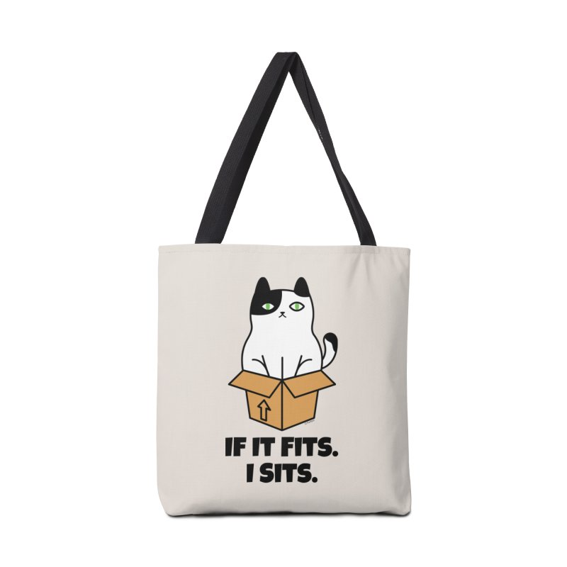 If It Fits I Sits Accessories Tote Bag Bag by Purrform