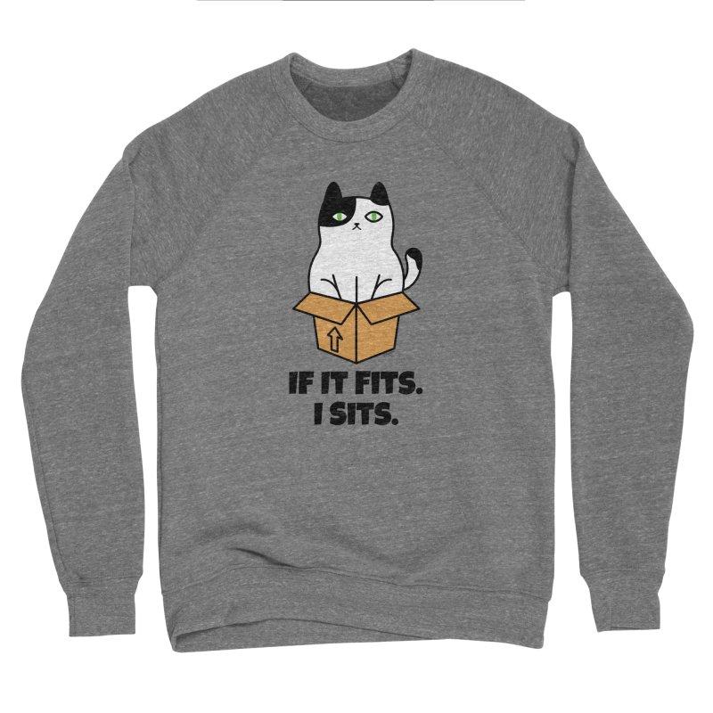 If It Fits I Sits Women's Sponge Fleece Sweatshirt by Purrform