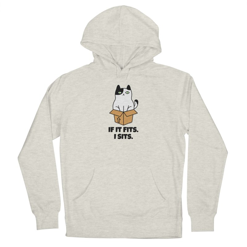 If It Fits I Sits Women's French Terry Pullover Hoody by Purrform