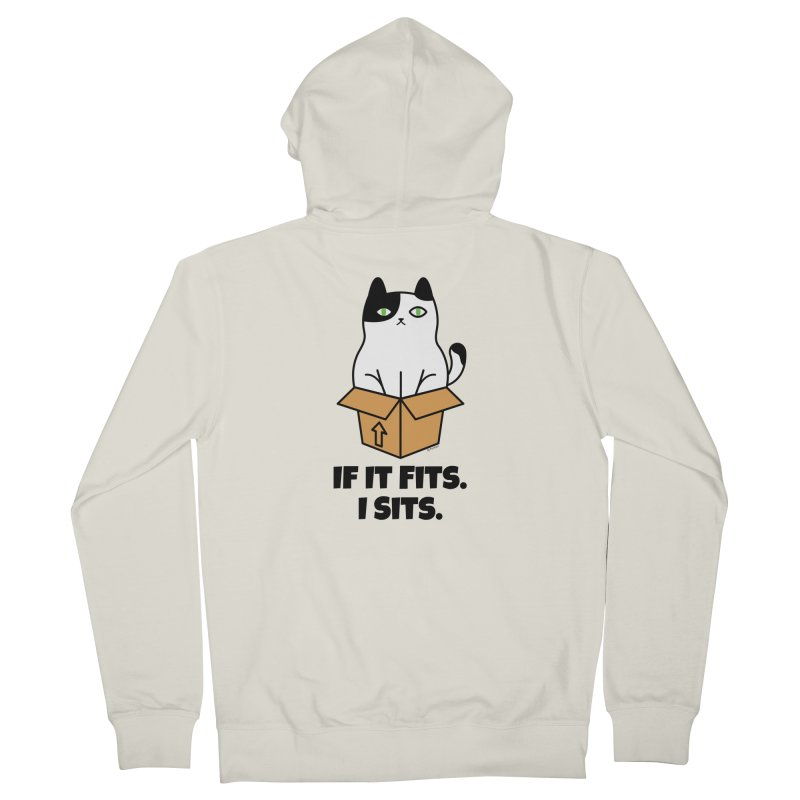 If It Fits I Sits Men's French Terry Zip-Up Hoody by Purrform