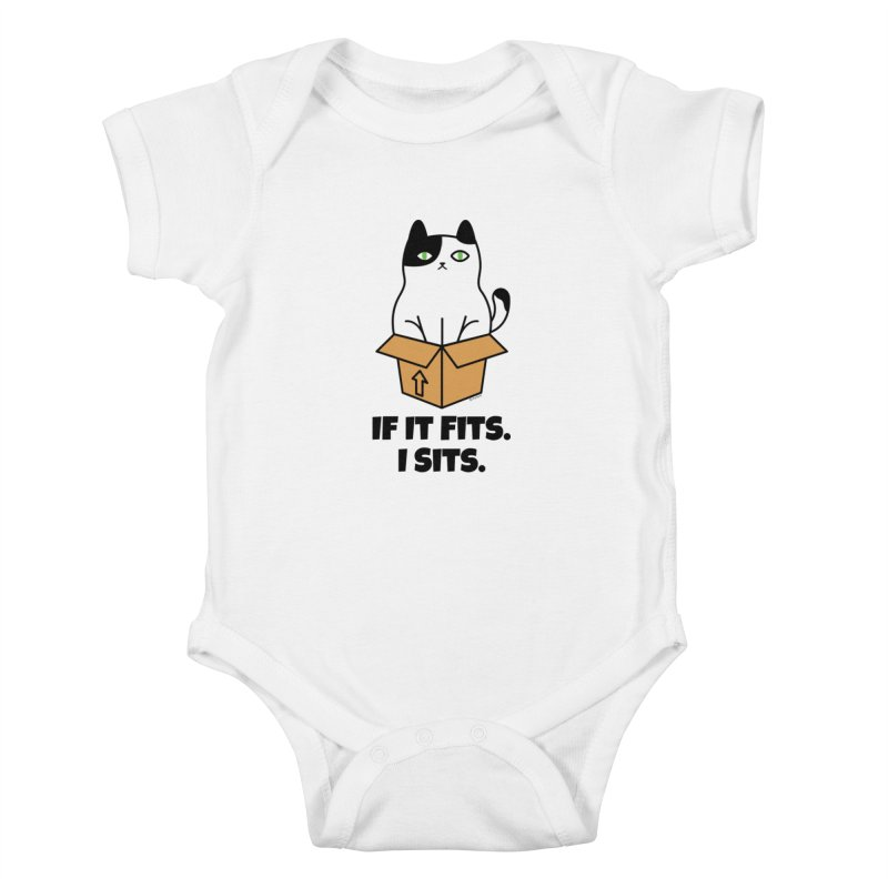 If It Fits I Sits Kids Baby Bodysuit by Purrform