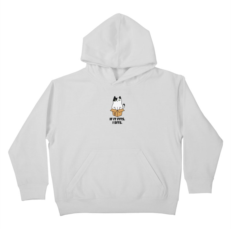 If It Fits I Sits Kids Pullover Hoody by Purrform