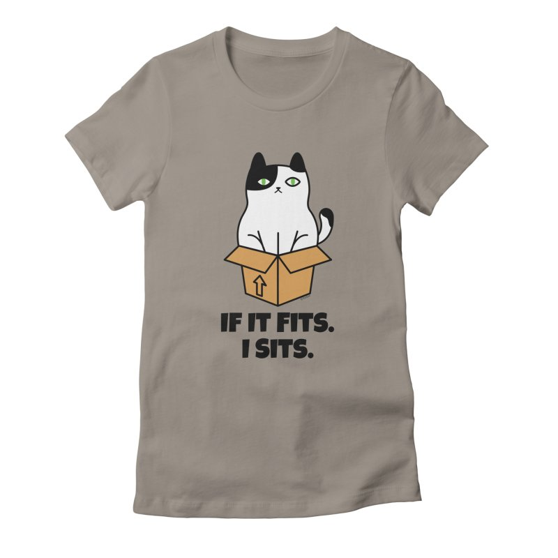 If It Fits I Sits Women's Fitted T-Shirt by Purrform