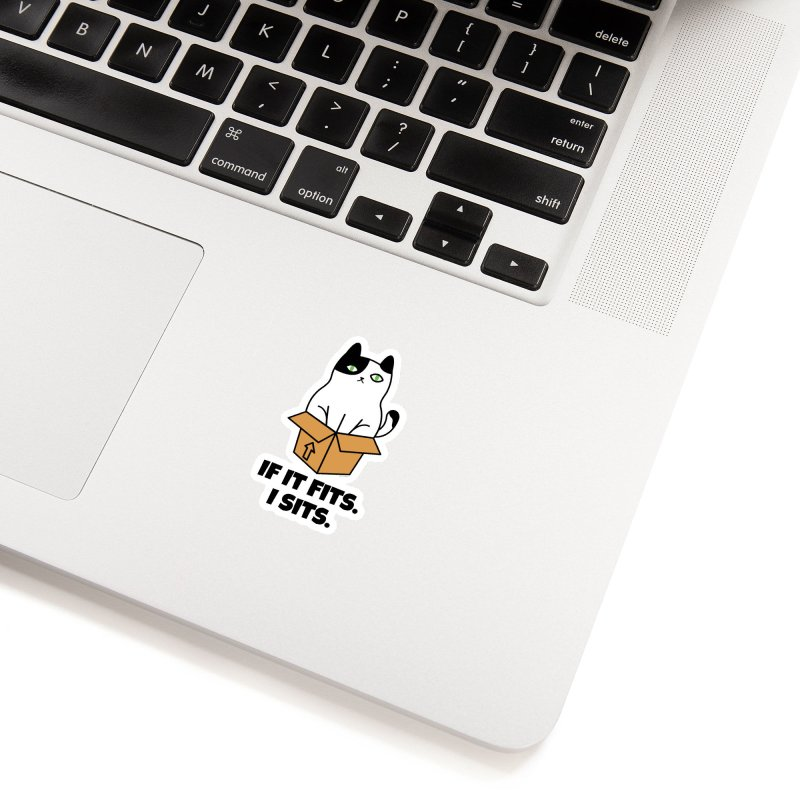 If It Fits I Sits Accessories Sticker by Purrform
